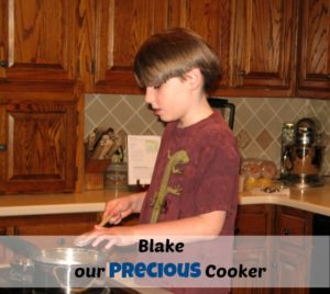 "Blake our ""Precious"" Cooker"