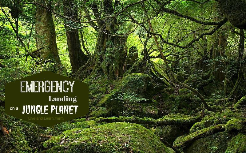Emergency landing on a jungle planet