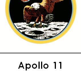 Apollo 11 3 Part Cards b