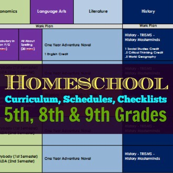 Curriculum Schedules Checklists 2014 2015 5th 8th And 9th