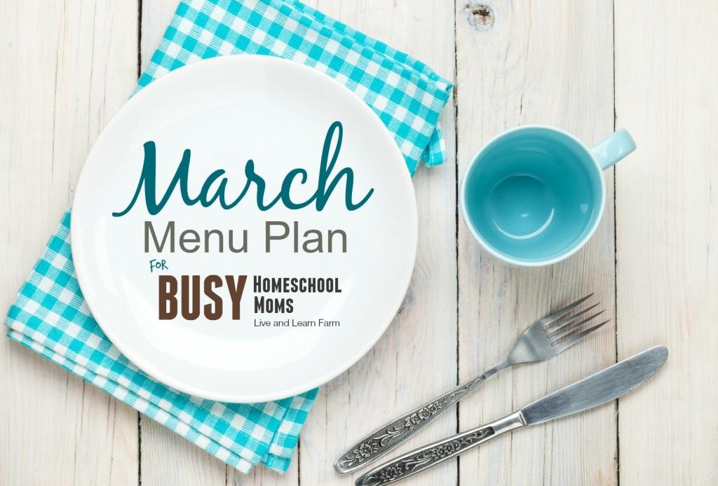 march menu plan d